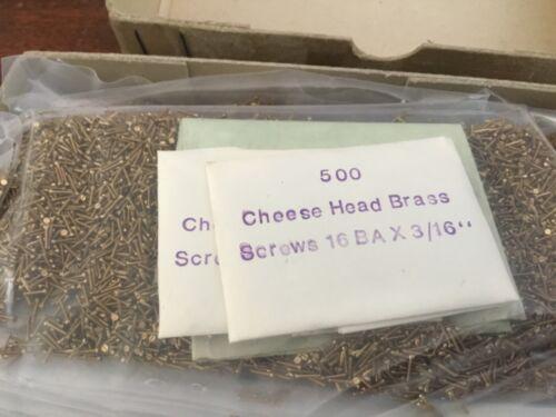 1000   16BA X 3//16 CHEESE HEAD BRASS