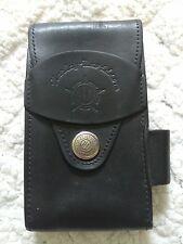 Vintage Harley Davidson Genuine Leather Cigarette Case Holder Belt Mountable