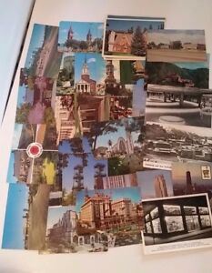 Vintage-POSTCARD-LOT-CHROME-UNPOSTED-VARIOUS-BUILDINGS-AND-PLACES