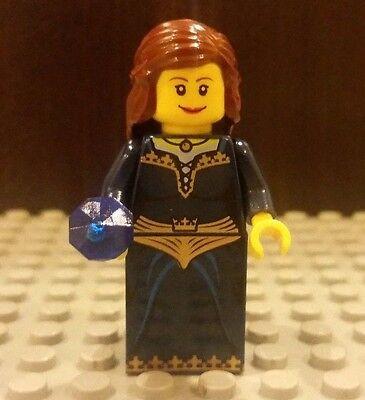 Female Minifigure Witch w// Brown Dress /& Dark Tan Hat Castle Harry Potter LEGO