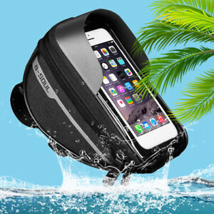 Bicycle-Front-Frame-Touch-Screen-Waterproof-Phone-Bag-MTB-Bike-Top-Tube-Pannier