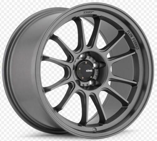 35 Matte Grey Wheel One 17x9 Konig Hypergram 5x120