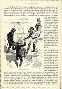 Orient * égypte * Khéops Pyramide * Ascension * Original Feuille De 1884-afficher Le Titre D'origine