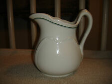 """Vintage Pottery Pitcher-Stamped """"OR China Co""""-Scalloped Rim-Heavy Pitcher-LOOK!"""