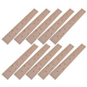 10pcs-26-inch-Ukulele-Fretboard-Fingerboard-18-Frets-Maple-For-Tenor-Ukulele