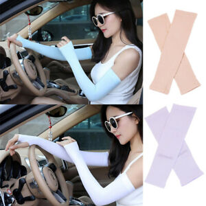 2-Pairs-Anti-UV-Sunscreen-Protection-Driving-Cooling-Arm-Sleeve-Elbow-Gloves