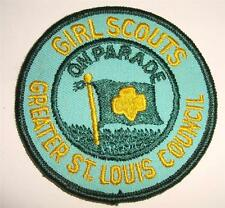 VINTAGE GIRL SCOUT SCOUTS BADGE PATCH ON PARADE GREATER ST. LOUIS COUNCIL