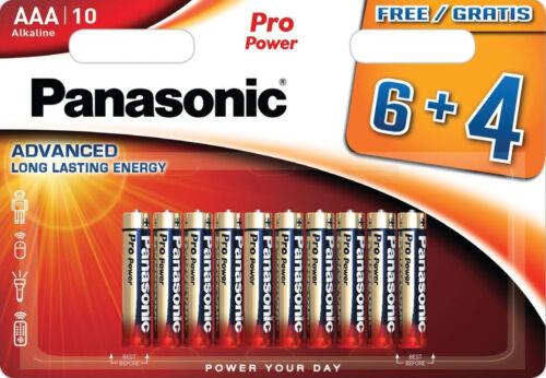LR03 Alkaline 10 er Blister MN2400 LR03XEG//4B Pro Power Micro AAA
