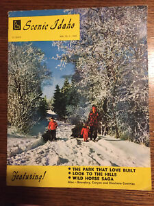 Vintage Scenic Idaho Magazine Vol. 13- 1- 1960