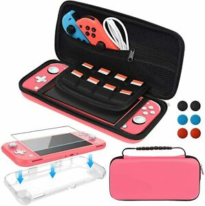Accessory Kit for Nintendo Switch Lite, Carrying Case Package, Protective TPU Co