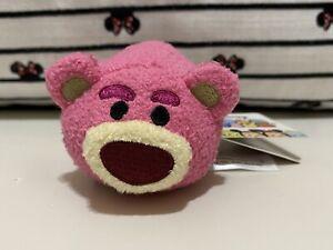 "Disney Collection Tsum Tsum Mini 3"" Toy Story Lotso Bear Plush NWT"