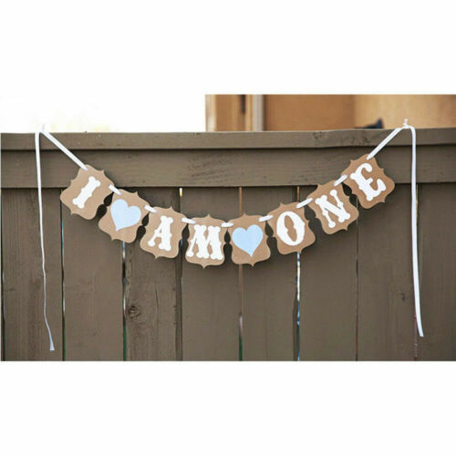 Birthday Recording 1-3 Years Old Letter Heart Banner Garlands Bunting Xmas HOT