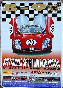 Alfa Romeo Tipo Poster Assen Circuit Mint Condition X - Alfa romeo poster