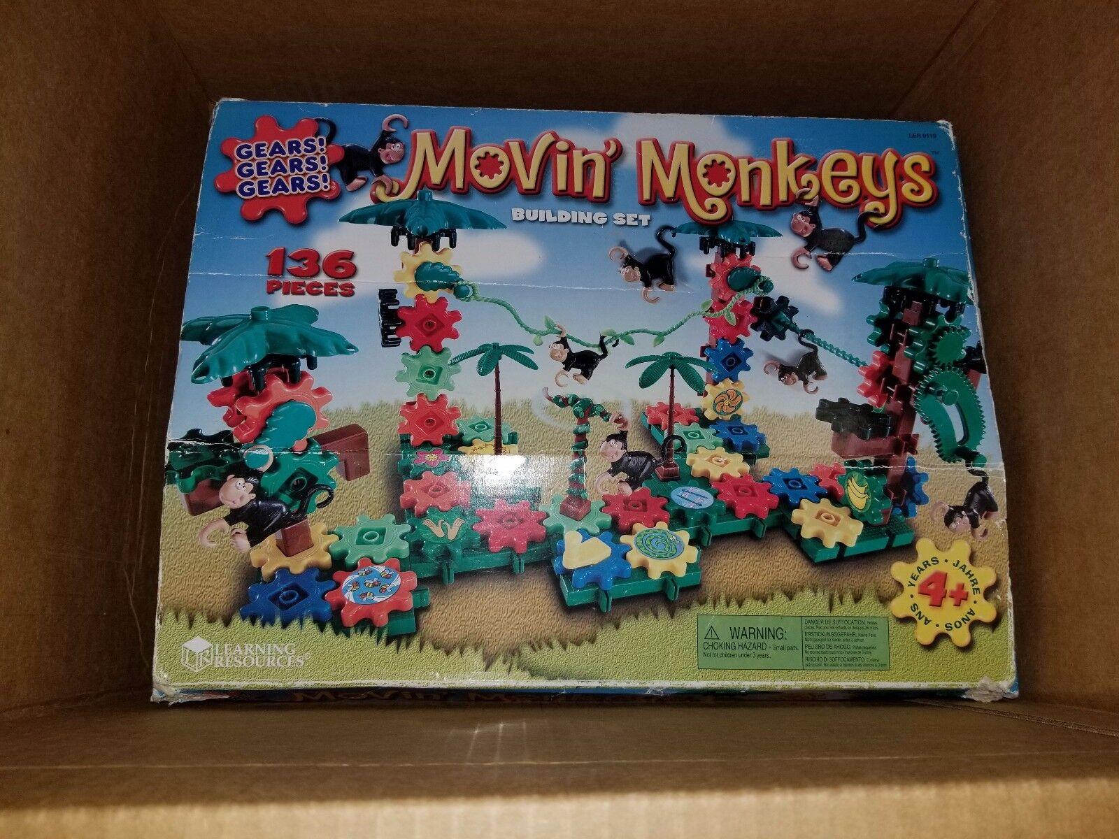 Movin' Monkeys Building Set Gears Gears Gears 236 plus pieces Complete