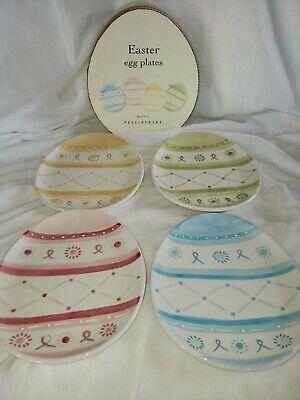 Pottery Barn Easter Egg Appetizer Plates Set Of 4 Rare