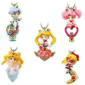 5pcs-Sailor-Moon-Twinkle-Dolly-Charm-Series-4-Keychain-PVC-Figure-Keyring-Charm