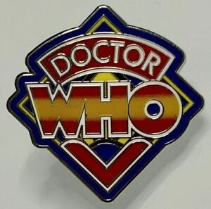 Uk Dr Doctor Who 1980s Classic Logo Enamel Pin Bbc Tv Ebay