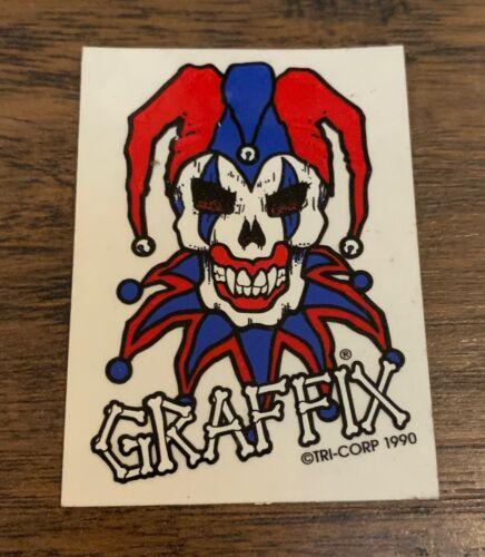 Graffix jester vintage 90's NOS sticker decal hip hop marijuana