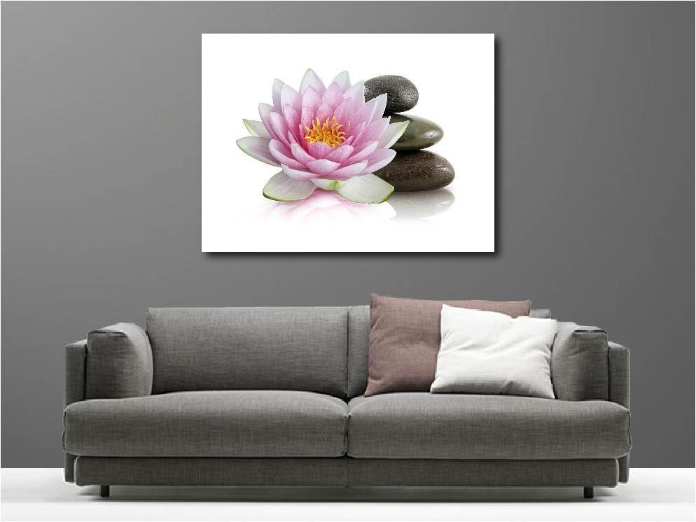 Gemälde Gemälde Deko Set -Blaume Lotus Ref 63448990