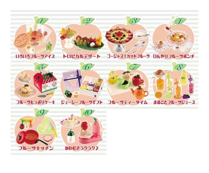 Re-ment frutas Onda en abundancia ,  1-10  1 6 Escala Barbie Cocina Comida Miniatures