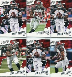 pretty nice af678 233b7 Details about LOT (10) TAMPA BAY BUCCANEERS JAMEIS WINSTON MIKE EVANS -  2018 PRESTIGE - 3155