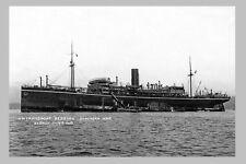 BERRIMA as HMAT A35 - P & O Line 1919 WW1 modern digital Photo Postcard
