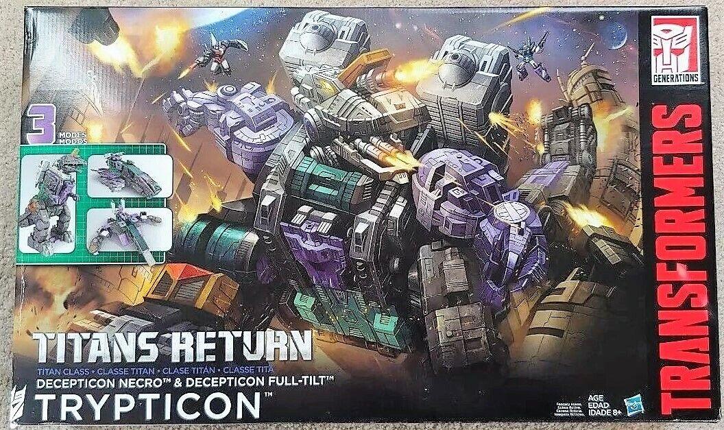 Transformers Generaciones Titanes retorno Trypticon Decepticon 3 modos Nuevo Sellado