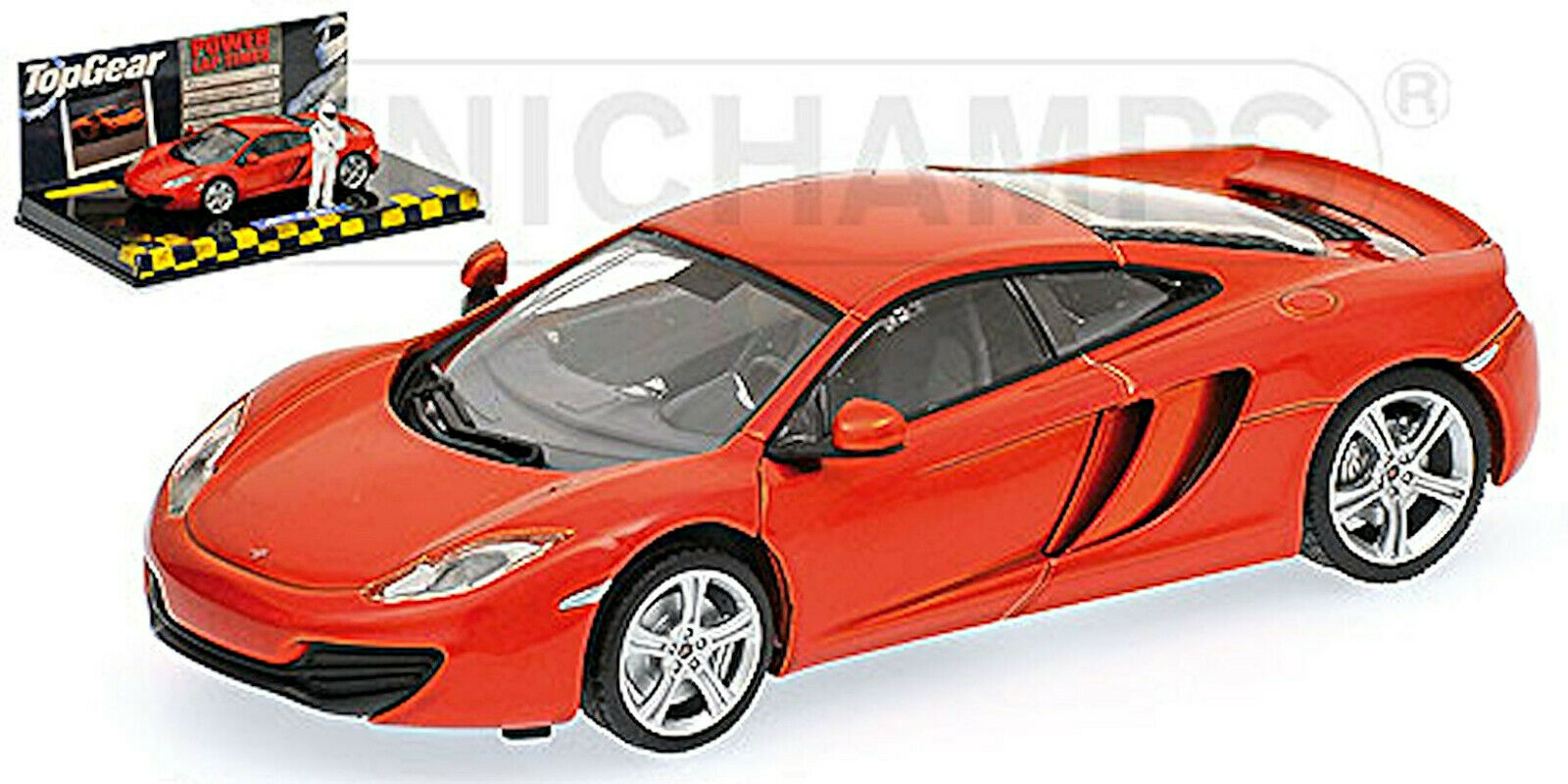 McLaren mp4-12c top Gear 2011 Orange Metallic 1 43 MINICHAMPS