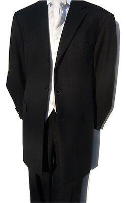 "NEW BLACK 3//4 PRINCE EDWARD DRAPE GOTH WEDDING DRESS JACKET 40 42 44 46 48 /"""