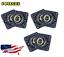 "6PCS UCF206-20 Pillow Block Flange Bearing 1-1//4/"" Bore 4 Bolt Solid Base"