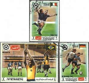 Yemen-UK-1150A-1152A-complete-issue-used-1970-Winner-Footbal