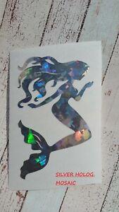Beach,Tumbler Cup Mug sticker 3.5 H Silver Holographic Mermaid Vinyl Car Decal Muurversieringen, stickers
