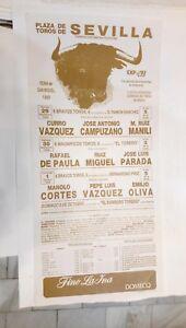 1989-Cartel-Plaza-de-Toros-Sevilla-Curro-Vazquez-Jose-Antonio-Campuzano