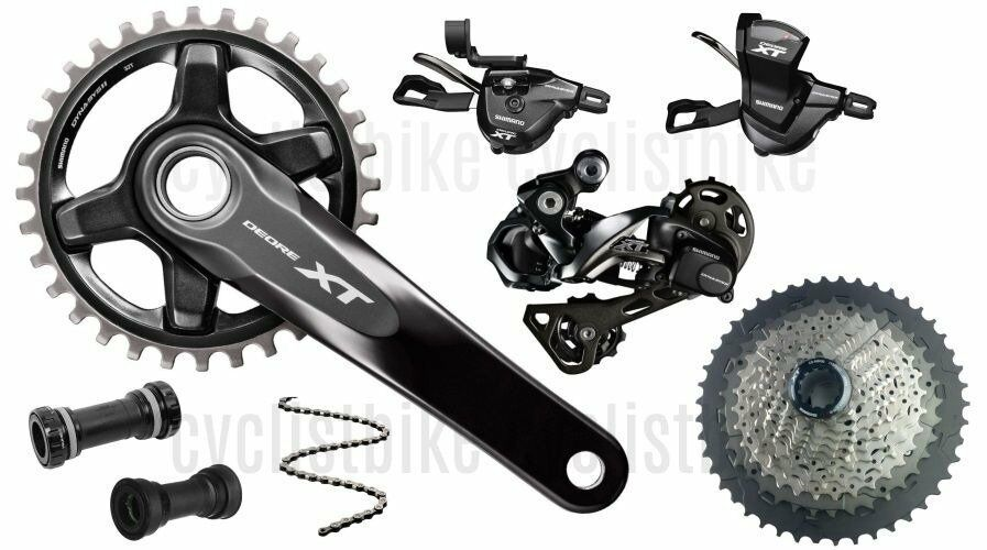 Shiuomoo Deore XT M8000 34T170 Mountain Groupset 1x11 Single 1146T 6Pcs