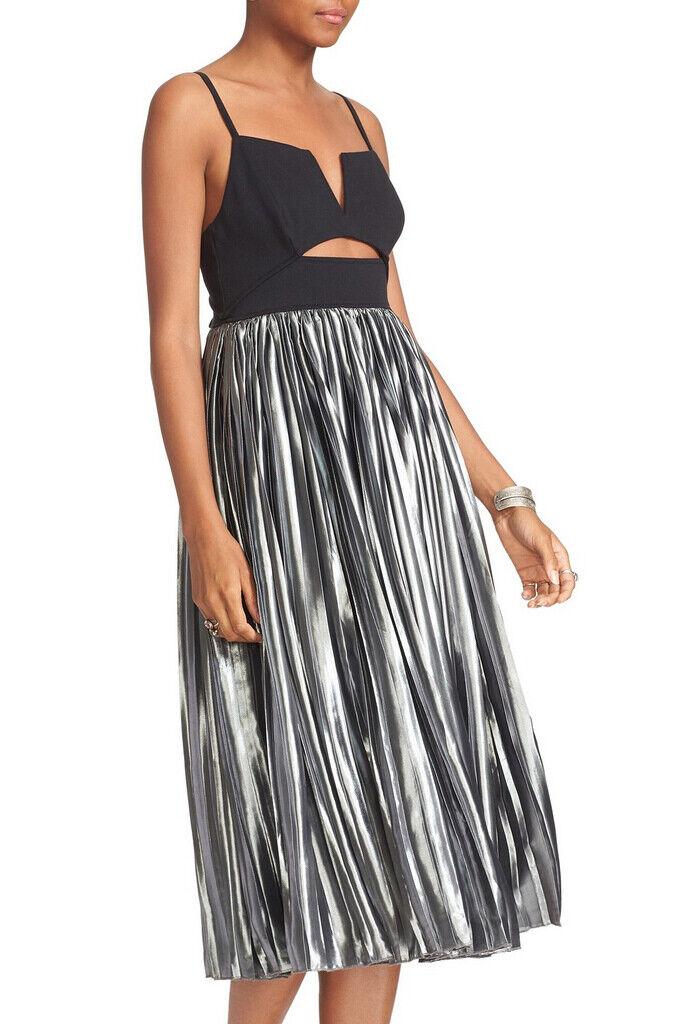 Free People damen Piper Pleated OB555630 Dress Relaxed schwarz grau Größe S