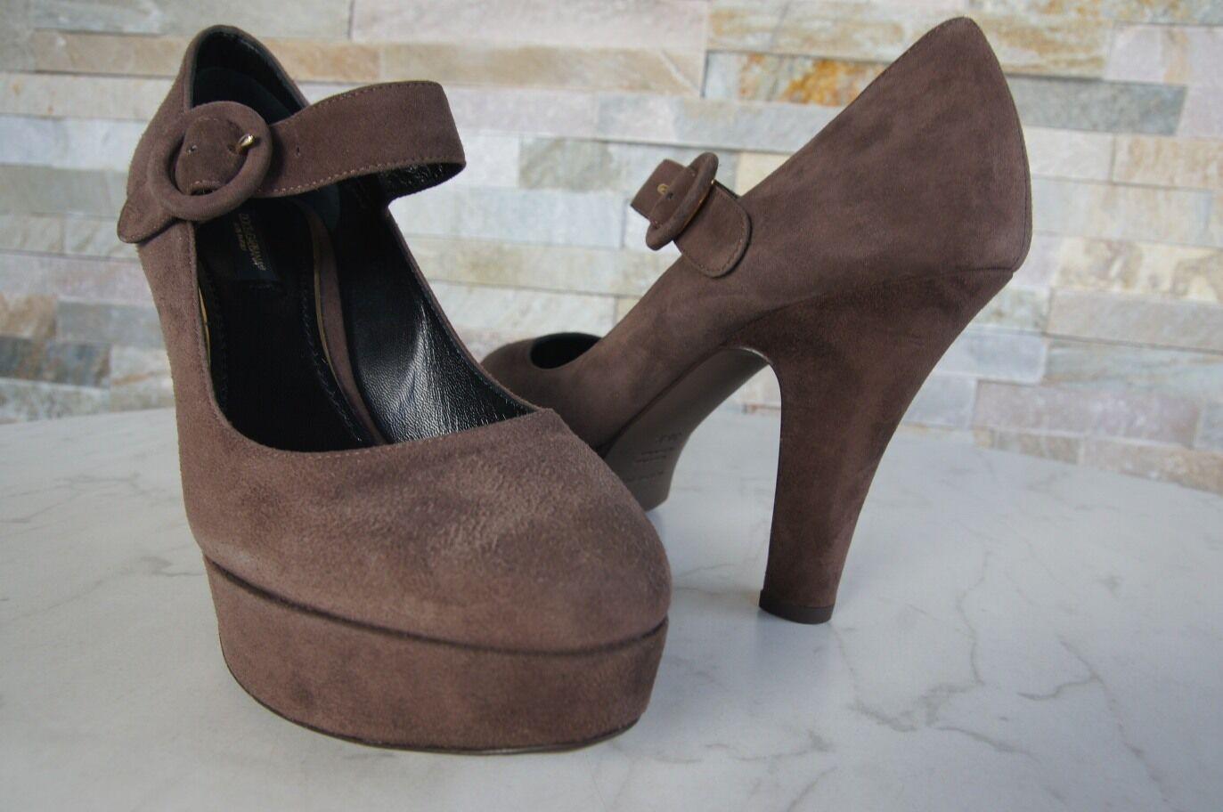 Dolce Heels & Gabbana Gr 40 Plateau Pumps Heels Dolce Schuhe schokolade braun NEU bc8230