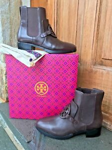 48a9eb5c123 Tory Burch New Miller Chocolate Brown 25MM Ankle Bootie 8 RUNS .5 ...