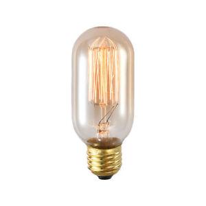 Industrial Loft Glass Short Tube Brass Ceiling Pendant Lights E27 220V 40W T45