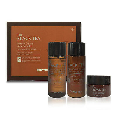 [TONYMOLY] The Black Tea London Classic Skin Care 3 Kit [Promotion​al item]