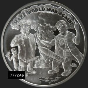 2018 1 oz MAKE WORLD WAR AGAIN Silver Shield  BU with COA