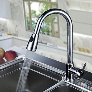 Rührgerät Küche de drehen herausziehen küche sinken becken sprühen chrom rührgerät wasserhahn ebay