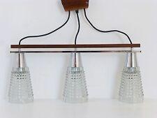 LUSTRE PLAFONNIER PYRAMIDES TYPIQUE 1960 TECK VINTAGE DESIGN PURE 60's LIGHT