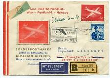 FFC 1958 Austrain Airlines Special Flight Wirn Frankfurt Hamburg REGISTERED