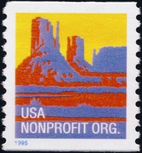 1995 5c Butte, American Designs, Coil Scott 2902 Mint F