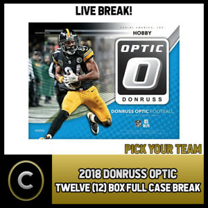 2018-DONRUSS-OPTIC-FOOTBALL-12-BOX-FULL-CASE-BREAK-F057-PICK-YOUR-TEAM