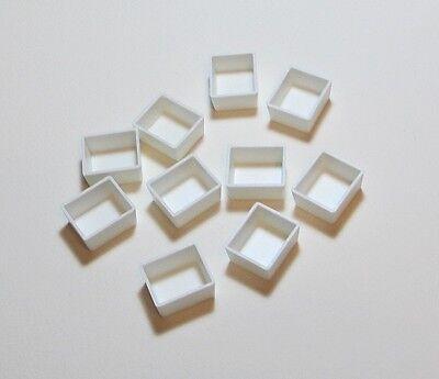 10 PLASTIC HALF PANS FOR WATERCOLOR PAINT - PALETTES AND MINI PALETTE REFILLS