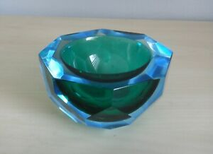 VINTAGE-MURANO-ITALIAN-FACETED-GLASS-BOWL