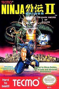 Rgc Huge Poster Ninja Gaiden Ii Original Nintendo Nes Box Art Ii