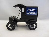 Ertl 1905 Ford Delivery Car Bank With Key Black 1:25 Scale (415m)