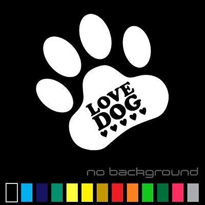 Woof Paw Prints Pet Vinyl Decal Sticker Car Window Wall Truck Animal Rescue Dog